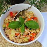 Insalata di riso integrale con tartara di verdure e lime