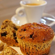 Chocolate, walnuts, orange muffins
